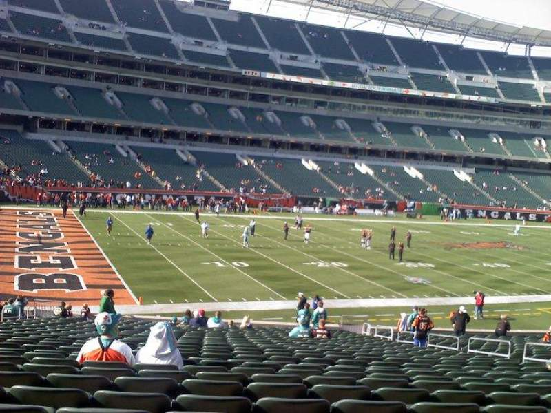 Seating view for Paul Brown Stadium Section 146 Row 29 Seat 11-12