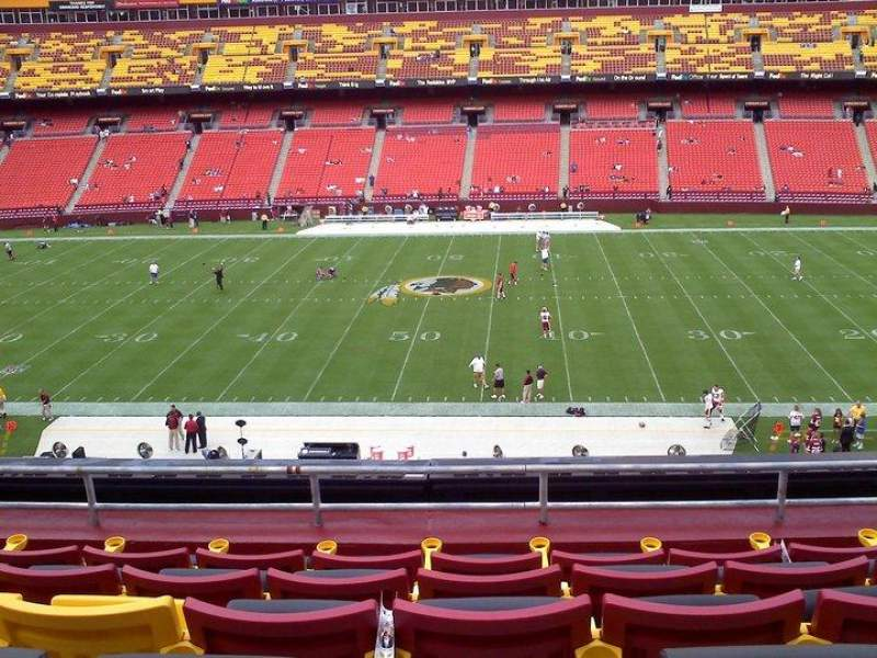 Seating view for FedEx Field Section 342 Row 5