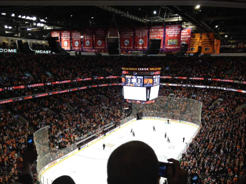 Seating view for Wells Fargo Center Section 209 Row 14 Seat 8