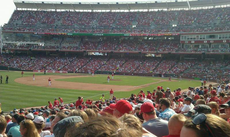 Seating view for Great American Ball Park Section 110 Row EE Seat 11
