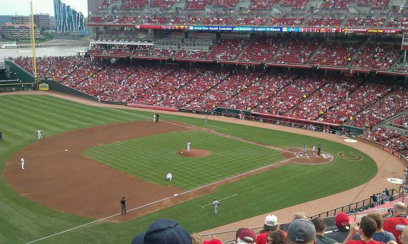 Seating view for Great American Ball Park Section 414 Row G Seat 12