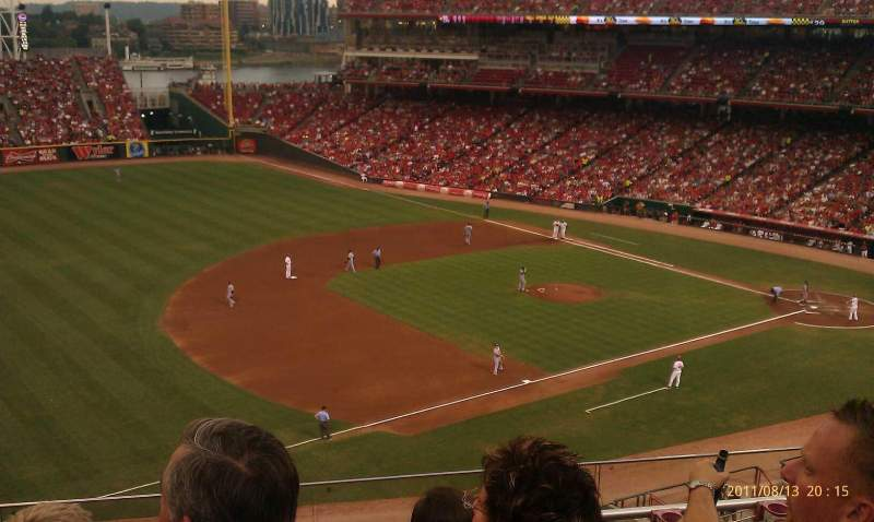 Seating view for Great American Ball Park Section 414 Row E Seat 12