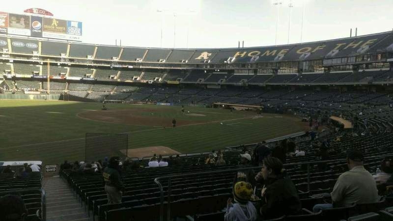 Seating view for Oakland Alameda Coliseum Section 128r Row 26 Seat 1