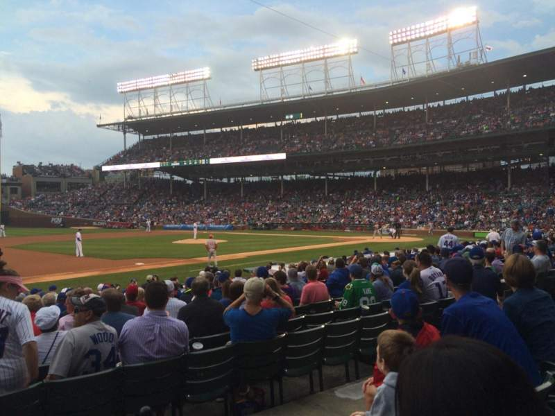 Seating view for Wrigley Field Section 111 Row 3 Seat 108