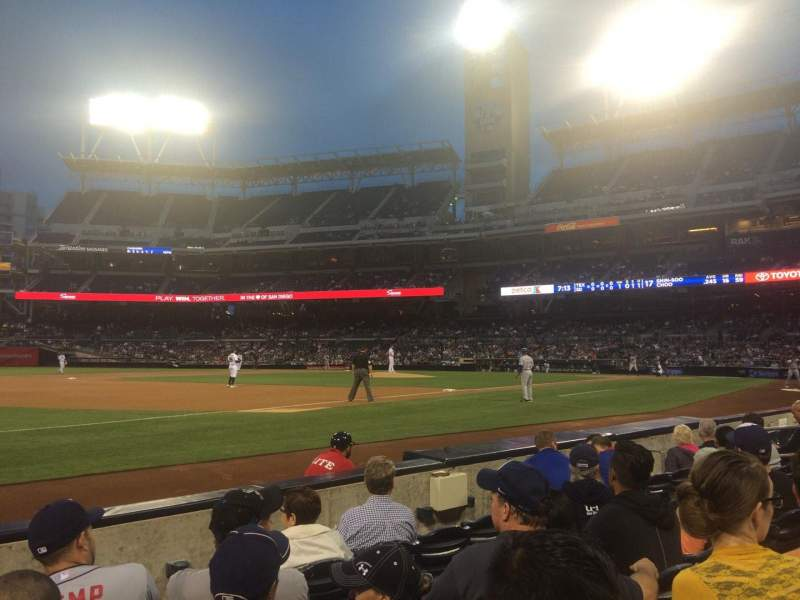 Seating view for PETCO Park Section 114 Row 5 Seat 18