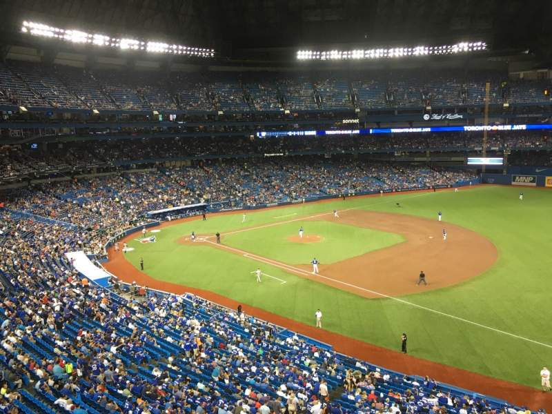 Seating view for Rogers Centre Section 312 Row A Seat 8