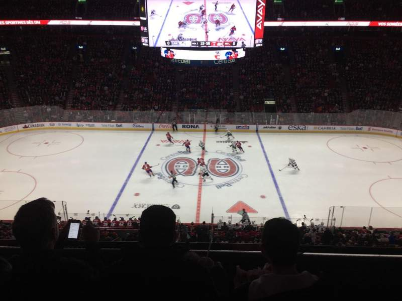 Centre Bell, section: 201, row: C, seat: 3