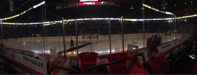 Seating view for FirstOntario Centre Section 109 Row 4 Seat 8