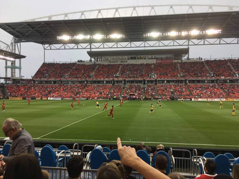 BMO Field, section: 107, row: 6, seat: 21