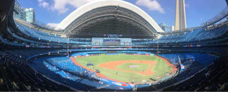 Seating view for Rogers Centre Section 225R Row 8 Seat 6