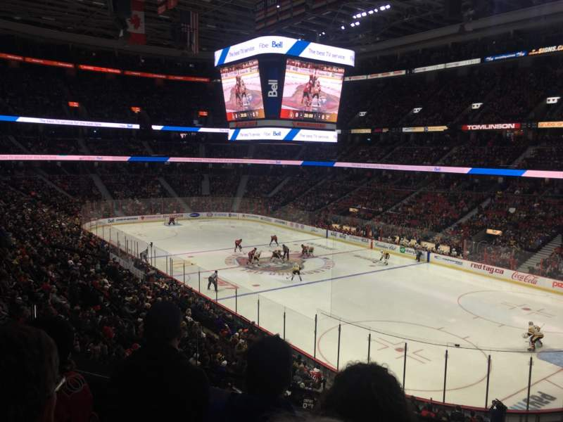 Seating view for Canadian Tire Centre Section 218 Row C Seat 12
