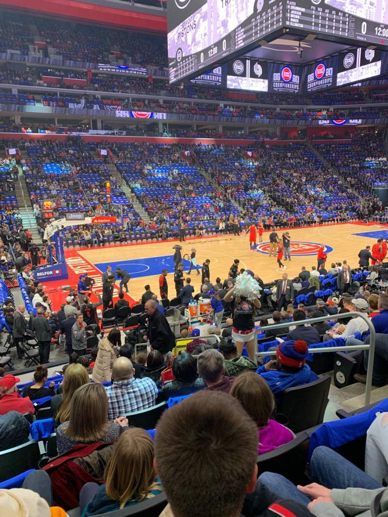 Seating view for Little Caesars Arena Section 125 Row 12 Seat 5
