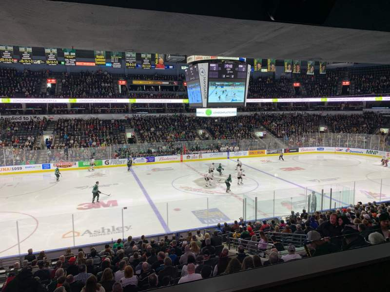 Seating view for Budweiser Gardens Section Suite 34 Row 2 Seat 5