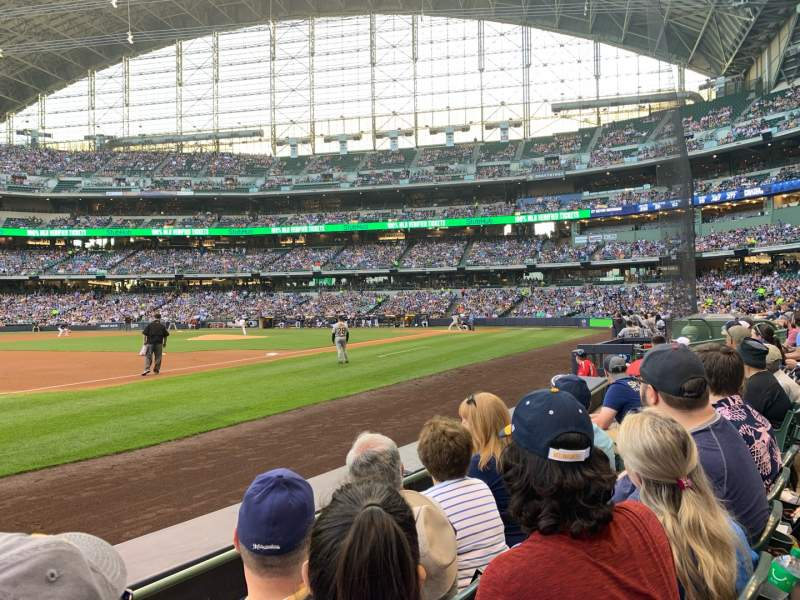 Seating view for American Family Field Section 125 Row 3 Seat 8