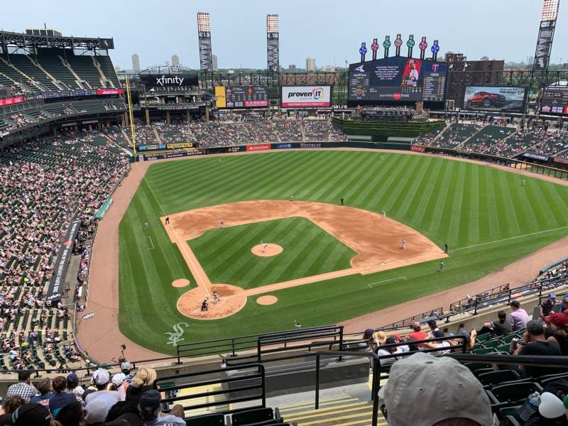 Seating view for Guaranteed Rate Field Section 529 Row 12 Seat 2