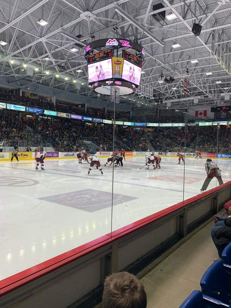 Seating view for Sleeman Centre Section 113 Row 2 Seat 9