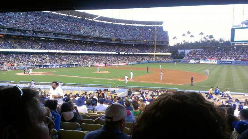 Seating view for Dodger Stadium Section 26FD Row W Seat 5