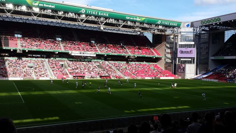 Seating view for Parken Stadium Section C2 Row 20 Seat 38