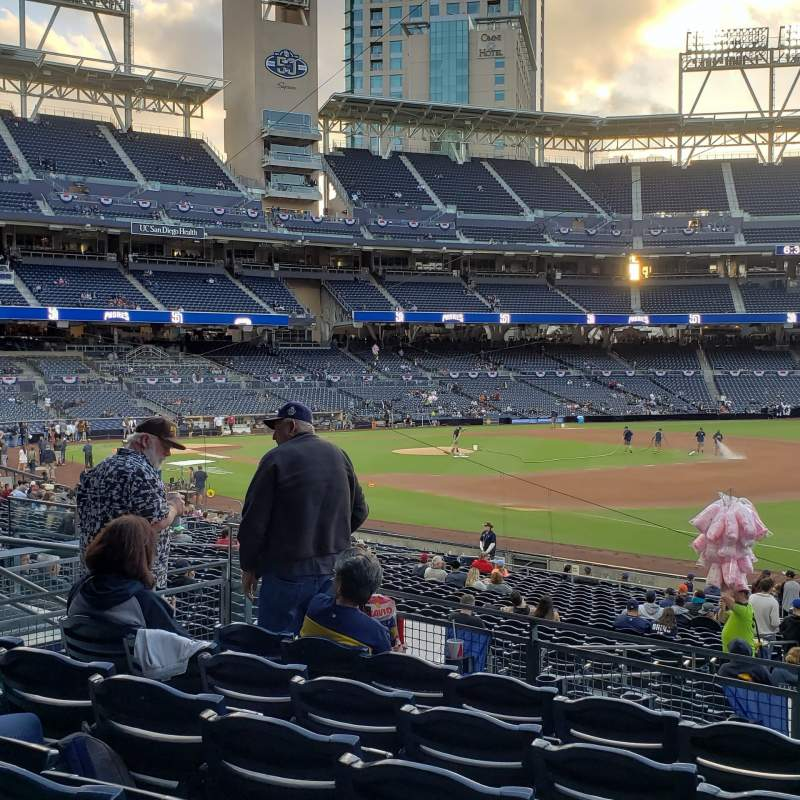 Seating view for PETCO Park Section 117 Row 32 Seat 12
