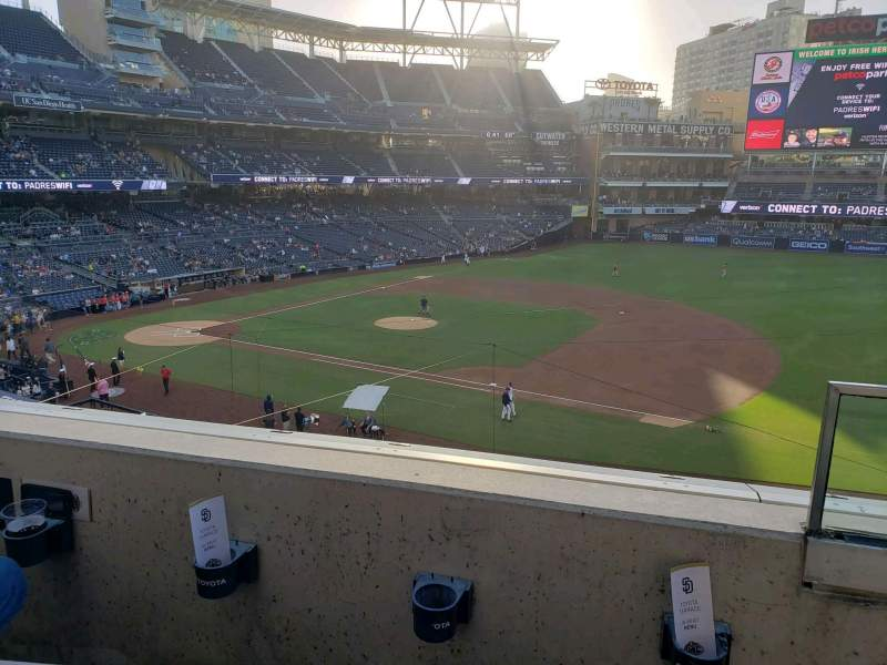 Seating view for PETCO Park Section 211 Row 2 Seat 12