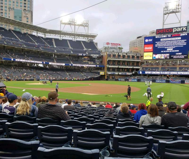 Seating view for PETCO Park Section 113 Row 17 Seat 15