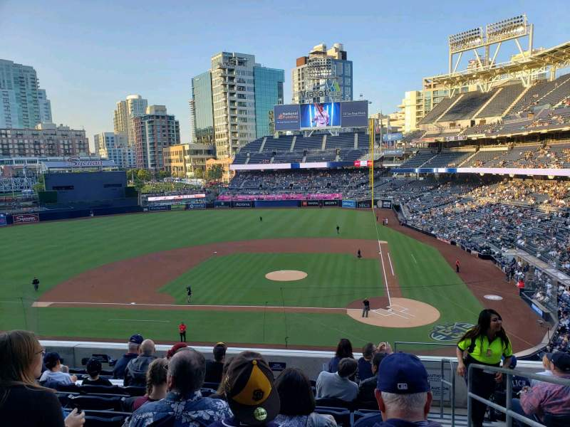 Seating view for PETCO Park Section 206 Row 9 Seat 1
