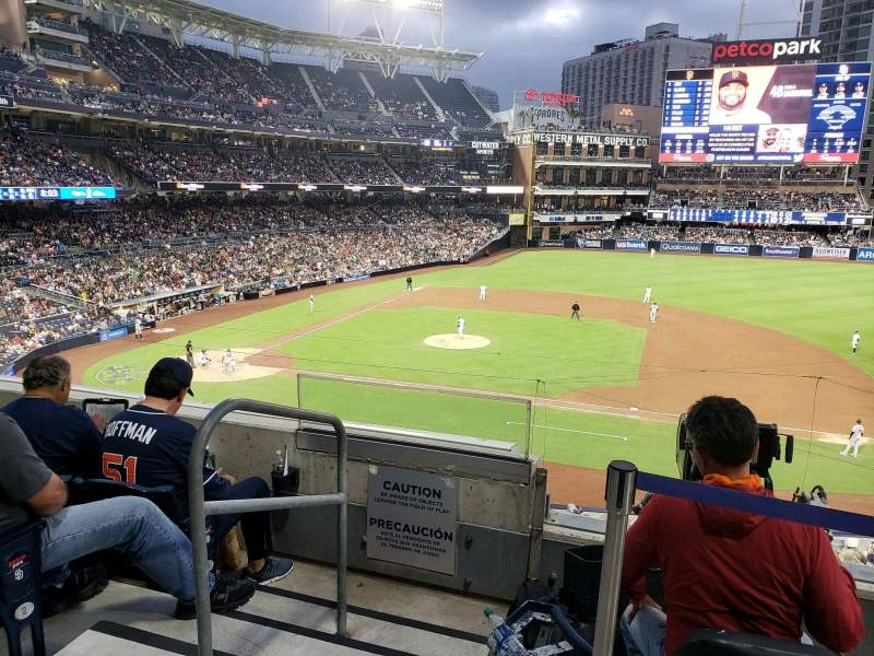 Seating view for PETCO Park Section 209 Row 4 Seat 2