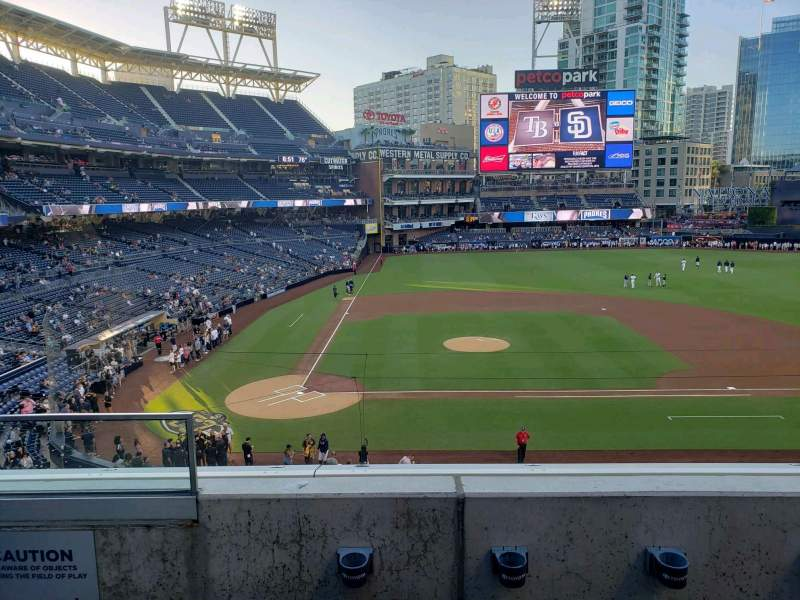 Seating view for PETCO Park Section 205 Row 3 Seat 2