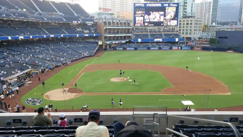 Seating view for PETCO Park Section 205 Row 8 Seat 12