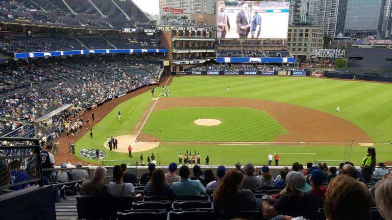Seating view for PETCO Park Section 205 Row 13 Seat 4