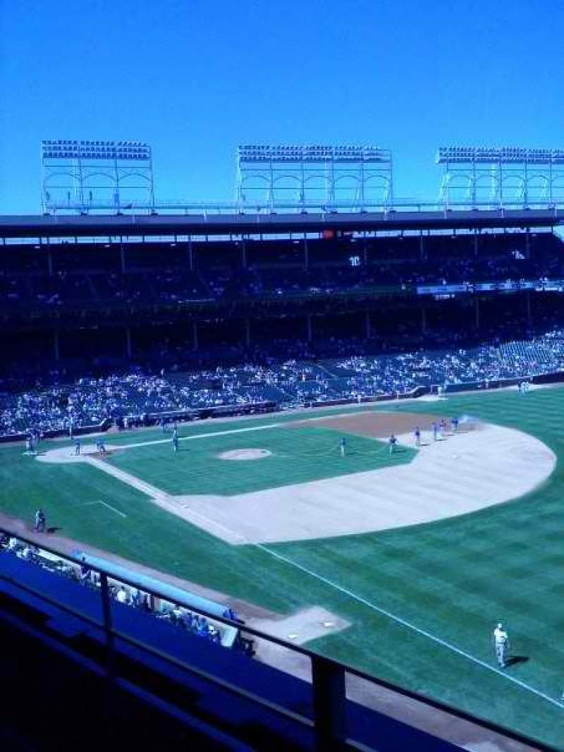 Seating view for Wrigley Field Section 436 Row 2 Seat 10
