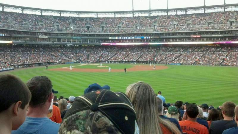 Seating view for Comerica Park Section 102 Row AA Seat 17