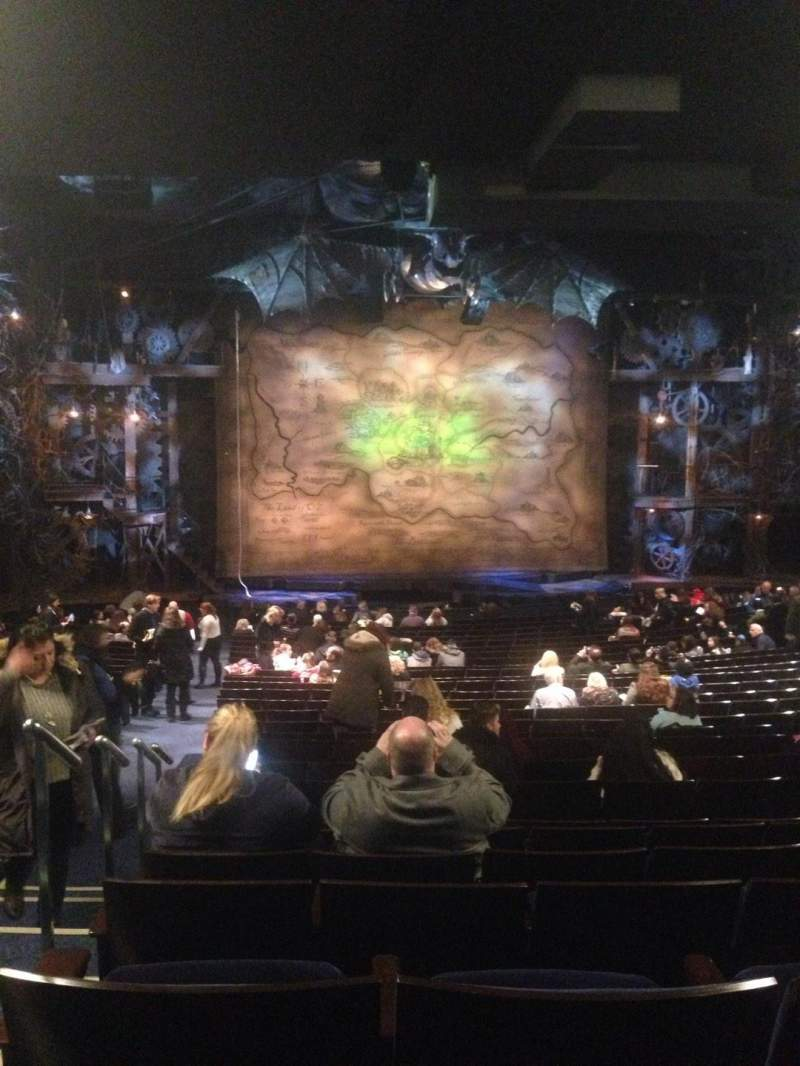 Seating view for Gershwin Theatre Section Orchestra C Row X Seat 101