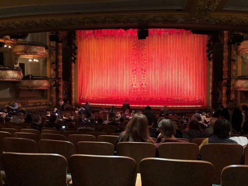 Seating view for New Amsterdam Theatre Section Orchestra C Row V Seat 101