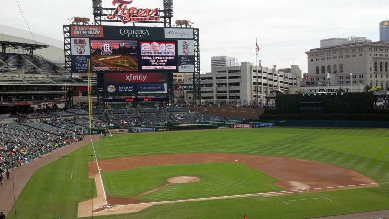 Seating view for Comerica Park Section Suite 117 Row 1 Seat 9