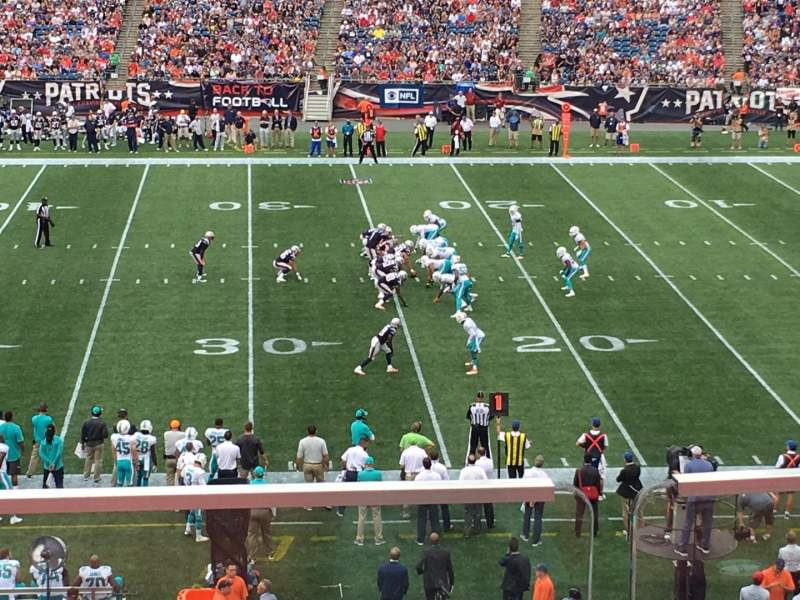 Seating view for Gillette Stadium Section CL30 Row B Seat 10