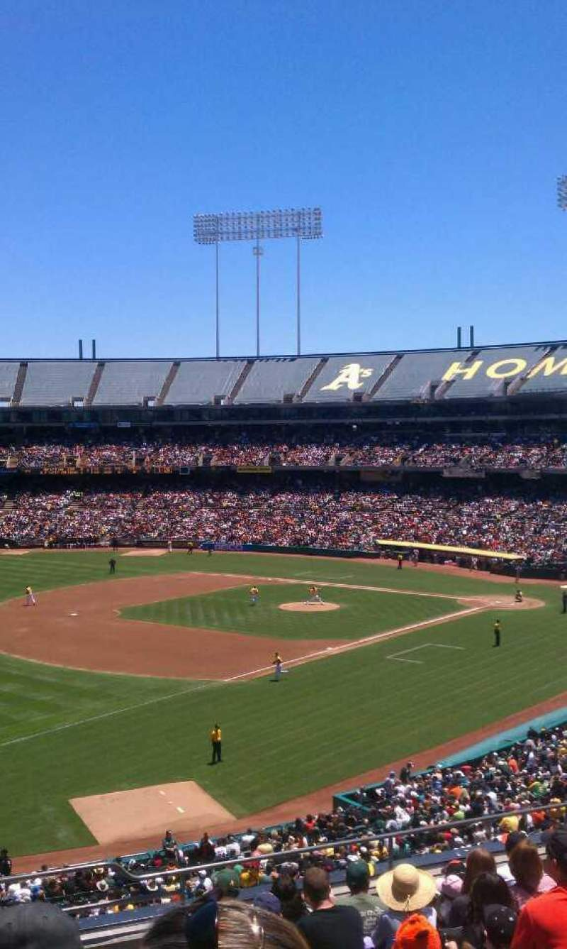 Seating view for Oakland Alameda Coliseum Section 228 Row 9 Seat 1