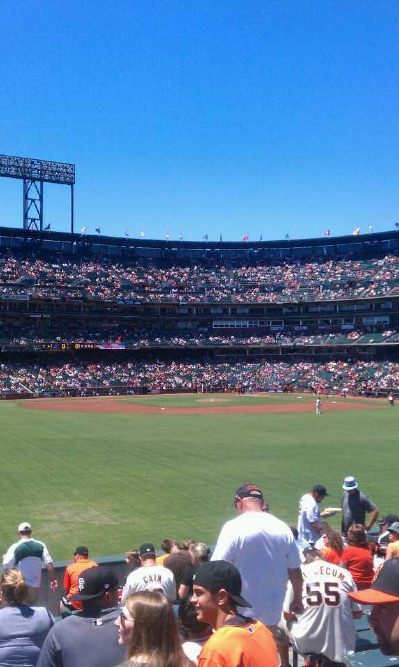 Seating view for AT&T Park Section 141 Row 14 Seat 5