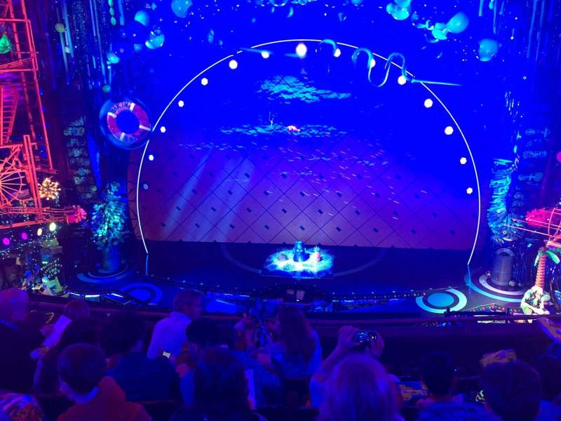 Seating view for Palace Theatre (Broadway) Section Mezz center Row D Seat 108