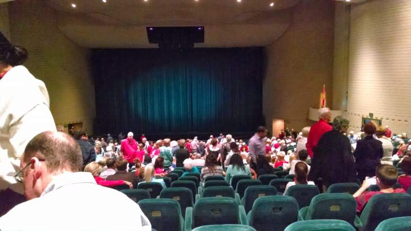 Seating view for Ruth Eckerd HallRow GG Seat 41