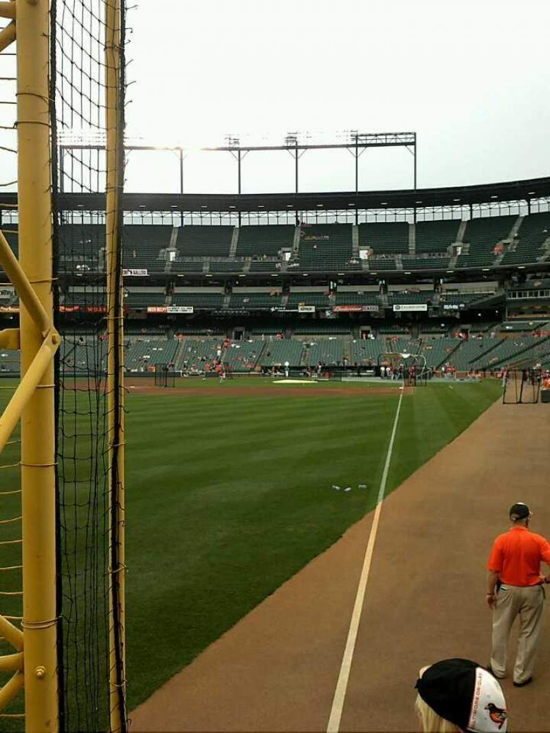 Seating view for Oriole Park at Camden Yards Section 74 Row 3 Seat 1-2