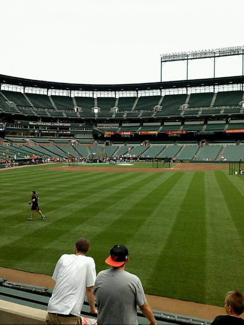 Seating view for Oriole Park at Camden Yards Section 98 Row 5 Seat 16-17