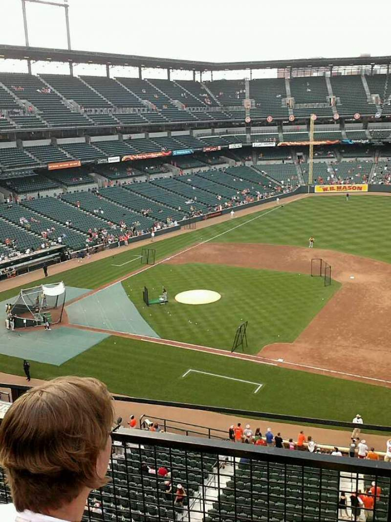 Seating view for Oriole Park at Camden Yards Section 318 Row 2 Seat 7-8