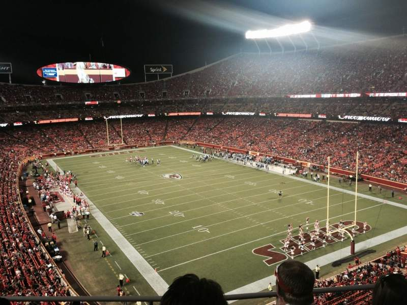 Seating view for Arrowhead Stadium Section 315 Row 3 Seat 20