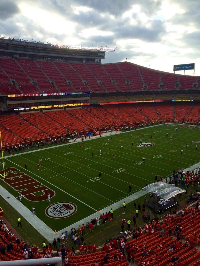 Seating view for Arrowhead Stadium Section 307 Row 3 Seat 20