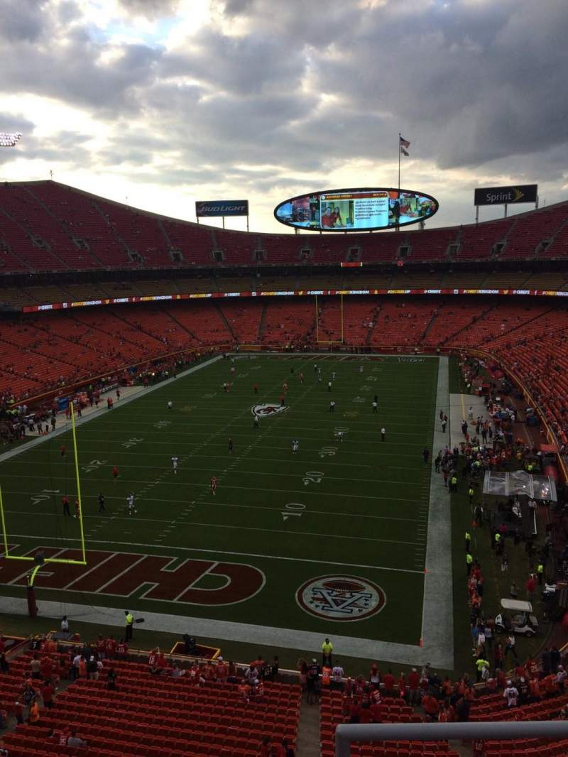 Seating view for Arrowhead Stadium Section 311 Row 3 Seat 20