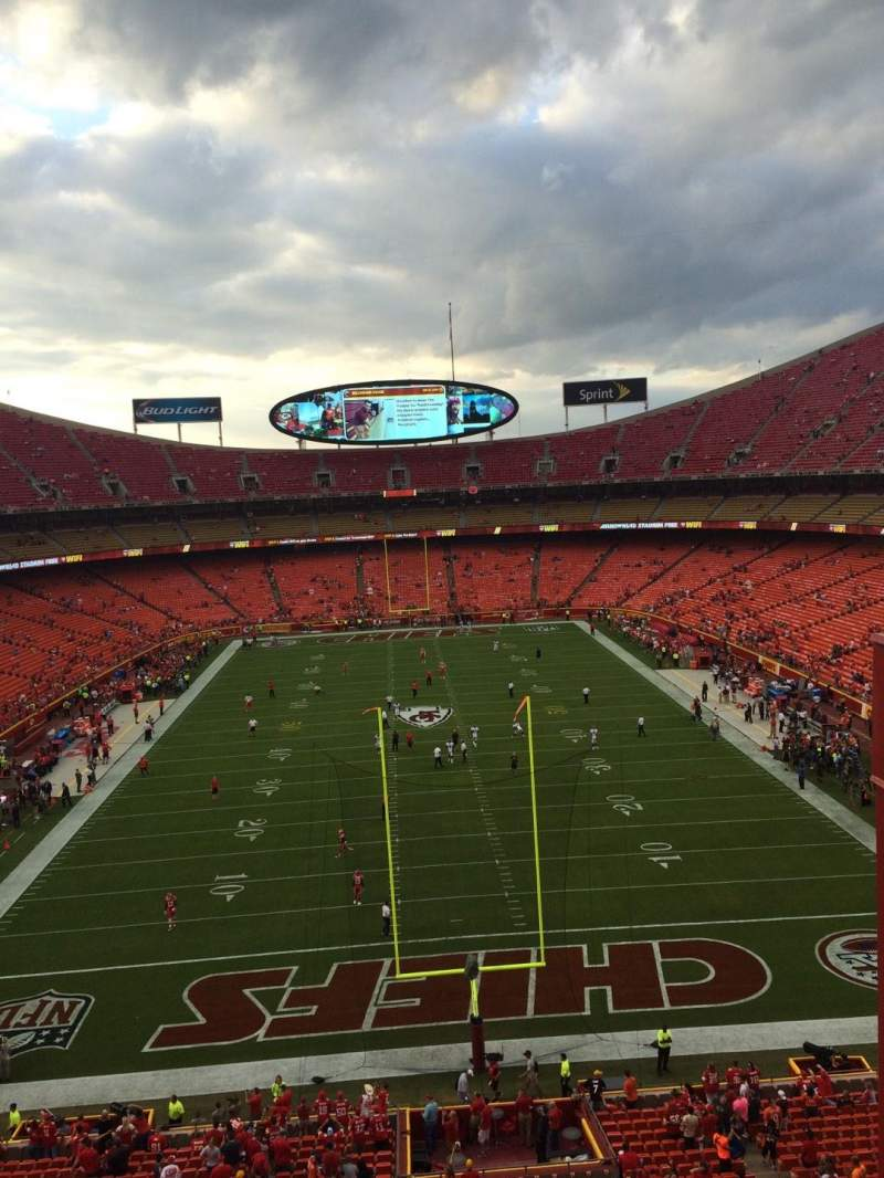 Seating view for Arrowhead Stadium Section 313 Row 3 Seat 4