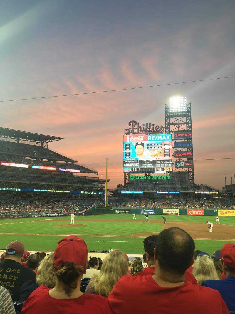 Seating view for Citizens Bank Park Section 116 Row 11 Seat 5