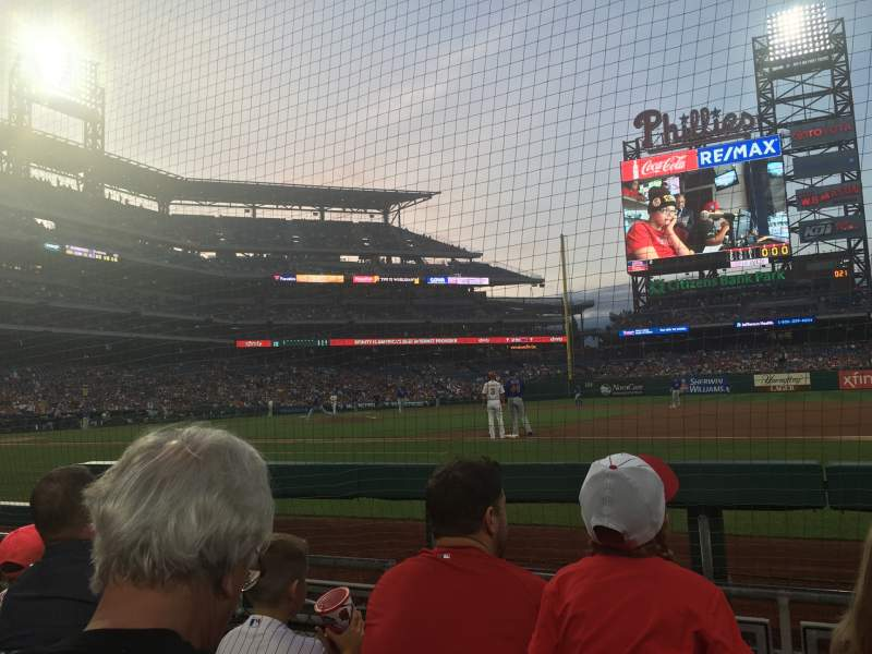 Seating view for Citizens Bank Park Section 115 Row 3 Seat 11