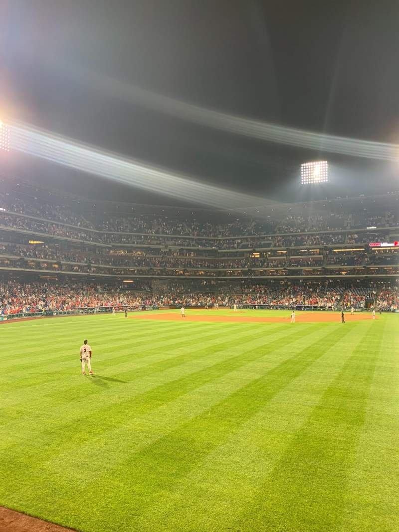 Seating view for Citizens Bank Park Section 103 Row 1 Seat 4